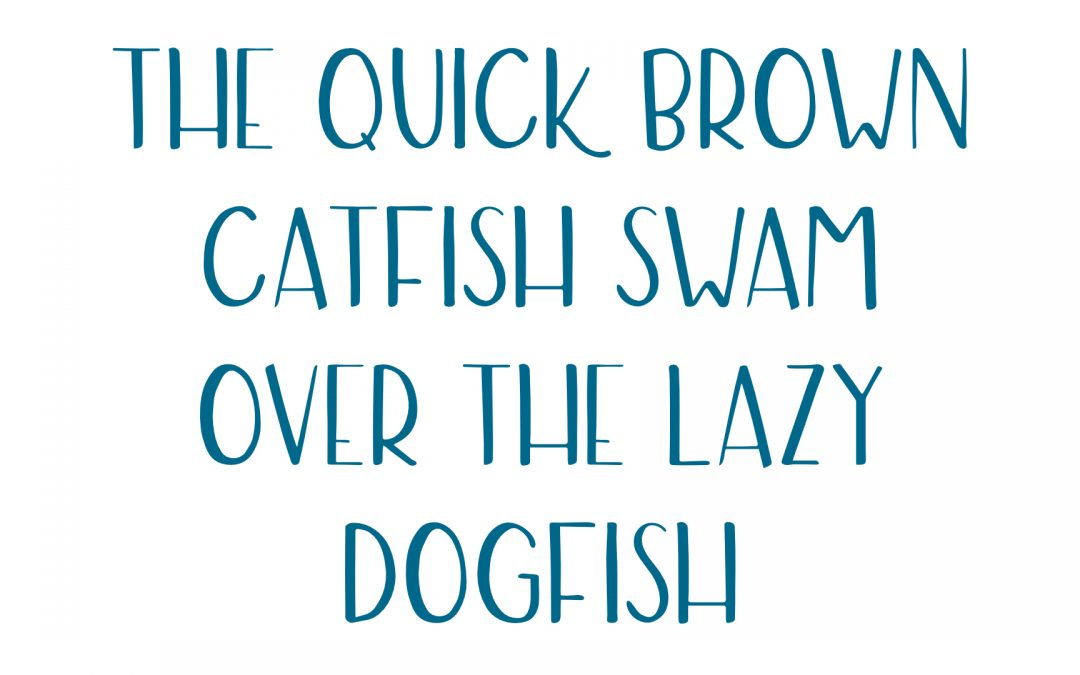 Our new Catfish font